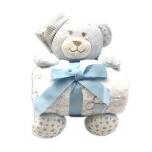 oso de peluche con mantita celeste