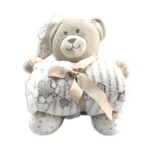 oso con mantita beige